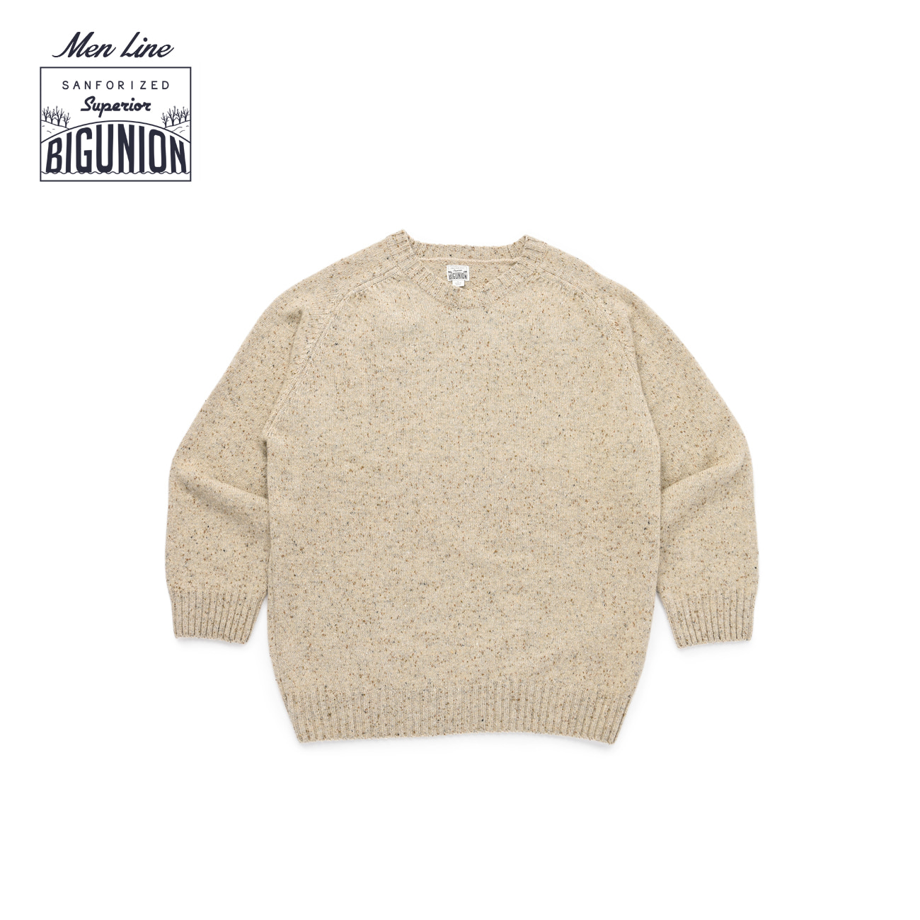 Warm Tone Wool Saddle Knit For Men