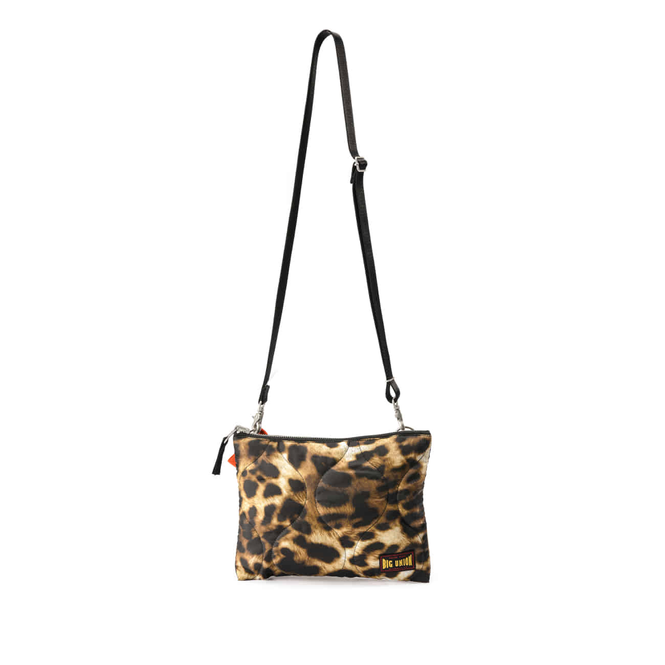 BU M Quilted Leopard Reversible Bag